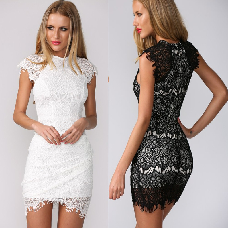 Crochet Lace Embroidery Color Dress DTYH on Luulla
